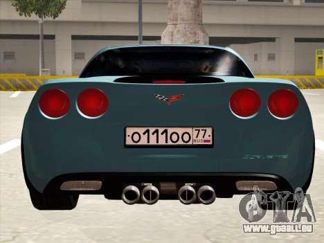 Chevrolet Corvette Grand Sport pour GTA San Andreas vue arrière
