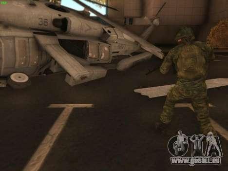 Bombardier moderne de l'Armée russe pour GTA San Andreas deuxième écran