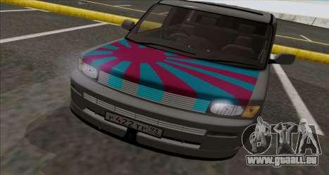 Toyota BB für GTA San Andreas zurück linke Ansicht