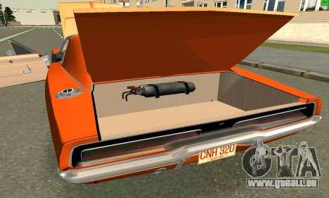 Dodge Charger General lee pour GTA San Andreas laissé vue