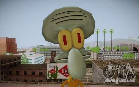 Squidward Tentacles für GTA San Andreas dritten Screenshot