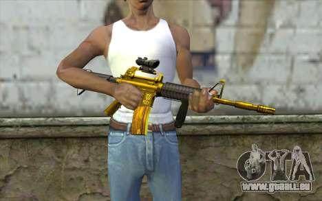 Or M4 avec une vue pour GTA San Andreas troisième écran