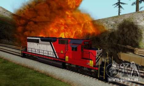GTA V Trem pour GTA San Andreas laissé vue