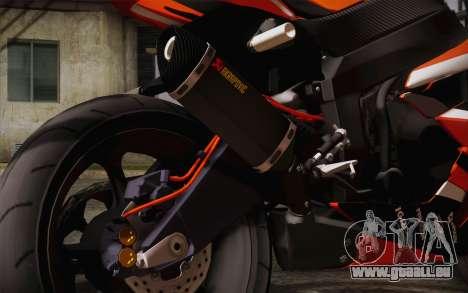Ninja ZX6R Stunt Setup pour GTA San Andreas vue de droite