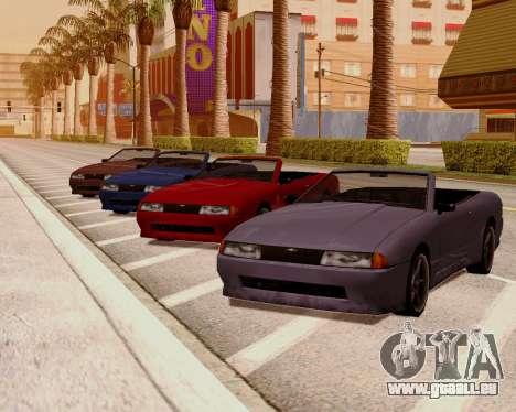 Élégie Convertible pour GTA San Andreas sur la vue arrière gauche