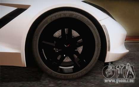 Chevrolet Corvette Stingray C7 2014 pour GTA San Andreas sur la vue arrière gauche