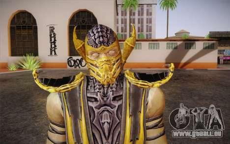 Scorpion из Mortal Kombat 9 pour GTA San Andreas troisième écran