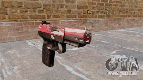 Pistolet FN Five-seveN urban Rouge pour GTA 4