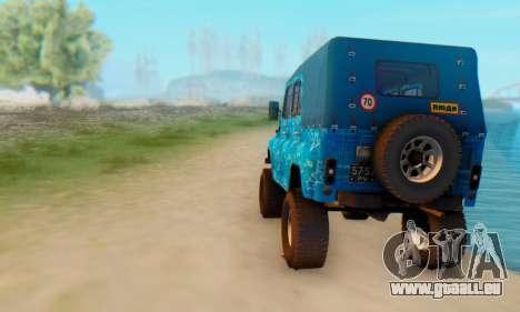 UAZ 469 Blue Star für GTA San Andreas rechten Ansicht