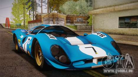 Ferrari 330 P4 1967 HQLM pour GTA San Andreas vue de côté