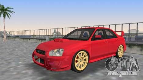 Subaru Impreza WRX STI 2005 pour une vue GTA Vice City d'en haut