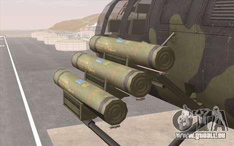 Bo-105 pour GTA San Andreas vue intérieure