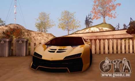 Pegassi Zentorno GTA 5 v2 für GTA San Andreas rechten Ansicht