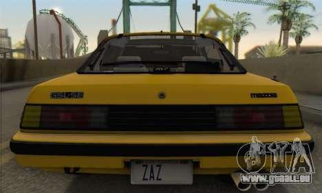 Mazda RX-7 GSL-SE 1985 IVF für GTA San Andreas obere Ansicht