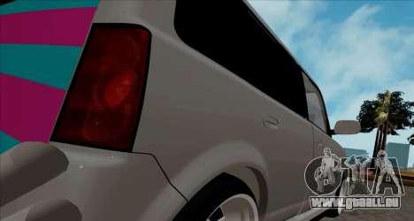Toyota BB pour GTA San Andreas vue de droite