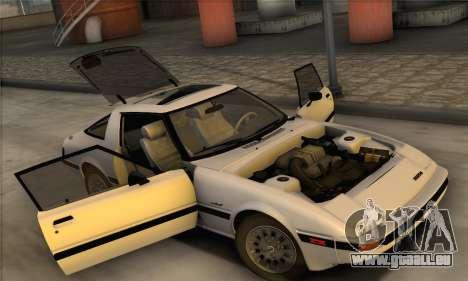 Mazda RX-7 GSL-SE 1985 IVF für GTA San Andreas Rückansicht