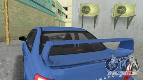 Subaru Impreza WRX STI 2005 pour GTA Vice City vue arrière