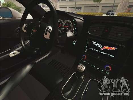 Chevrolet Corvette Grand Sport pour GTA San Andreas vue de côté