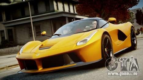 Ferrari LaFerrari v1.2 für GTA 4 Rückansicht
