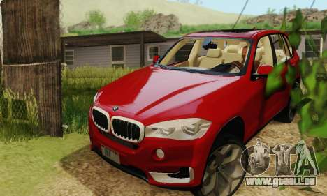 BMW X5 (F15) 2014 pour GTA San Andreas vue de droite