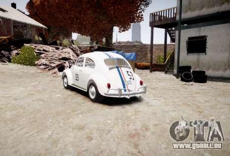Volkswagen Beetle 1962 pour GTA 4 est une gauche