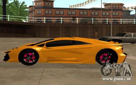 GTA 5 Zentorno pour GTA San Andreas laissé vue