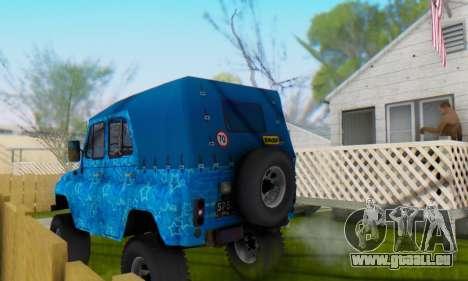 UAZ 469 Blue Star für GTA San Andreas Motor