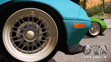 Mazda Miata Hellaflush pour GTA San Andreas laissé vue