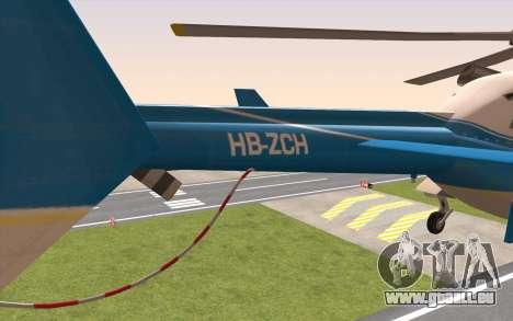 Bell 430 pour GTA San Andreas sur la vue arrière gauche