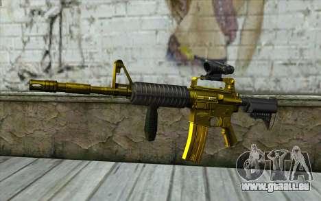 Or M4 avec une vue pour GTA San Andreas
