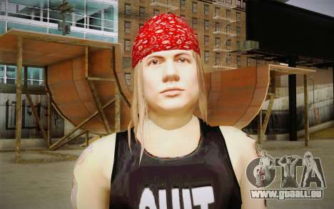 Axl Rose Skin v2 pour GTA San Andreas troisième écran