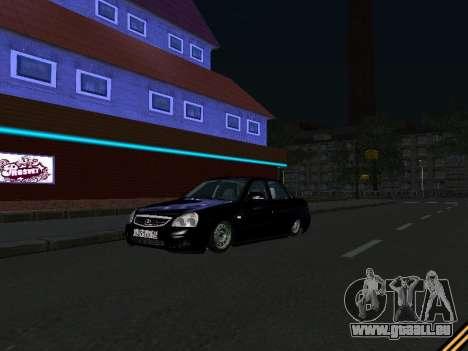 Lada 2170 Priora für GTA San Andreas zurück linke Ansicht
