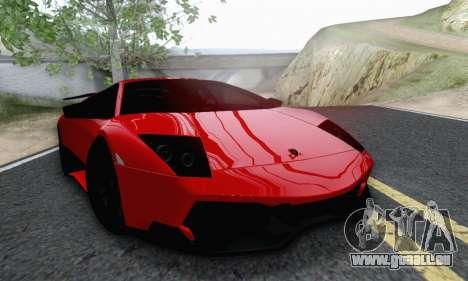 Lamborghini Murcielago LP670-4 SV pour GTA San Andreas vue de droite