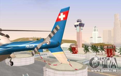 Bell 430 für GTA San Andreas Rückansicht