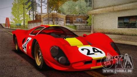 Ferrari 330 P4 1967 HQLM pour GTA San Andreas vue intérieure