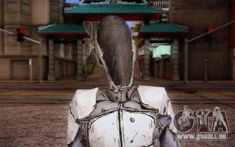 Zer0 из Borderlands 2 pour GTA San Andreas troisième écran