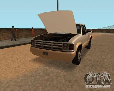 Nouveau Pick-Up pour GTA San Andreas vue de droite