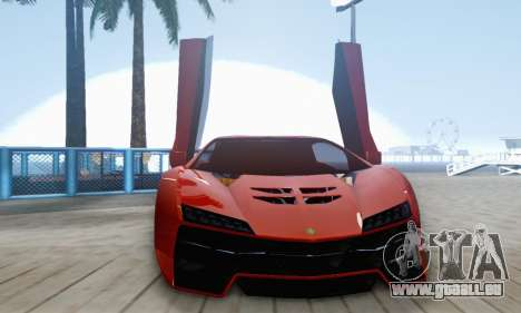 Pegassi Zentorno GTA 5 v2 für GTA San Andreas obere Ansicht
