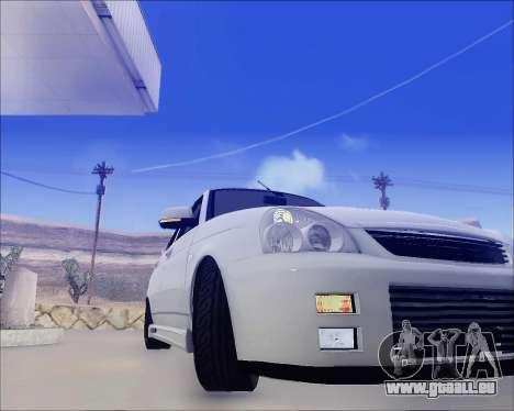 Lada 2170 Priora Tuneable pour GTA San Andreas vue de dessus