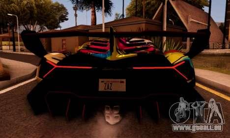 Lamborghini LP750-4 2013 Veneno Stikers Editions für GTA San Andreas zurück linke Ansicht