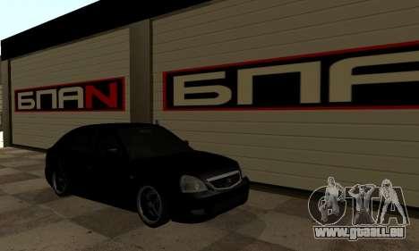 Lada 2170 Priora pour GTA San Andreas sur la vue arrière gauche