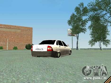 Lada 2170 Priora pour GTA San Andreas vue de droite