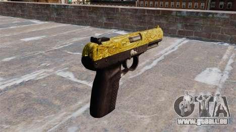 Pistolet FN Cinq sept d'Or pour GTA 4 secondes d'écran