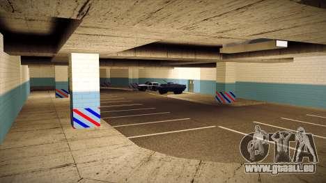 Nouveau garage LSPD pour GTA San Andreas cinquième écran