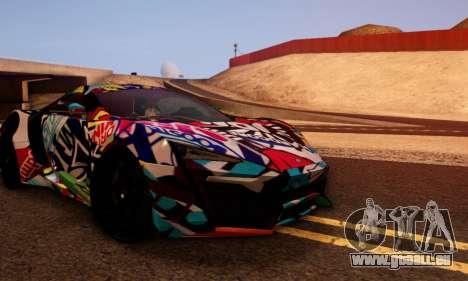 W-Motors Lykan Hypersport 2013 Stiker Editions für GTA San Andreas