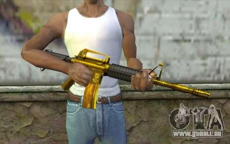 Or M4 sans vue pour GTA San Andreas troisième écran