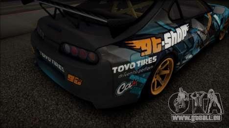 Toyota Supra GT-Shop pour GTA San Andreas laissé vue