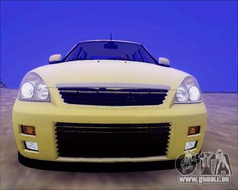 Lada 2170 Priora Tuneable für GTA San Andreas Räder