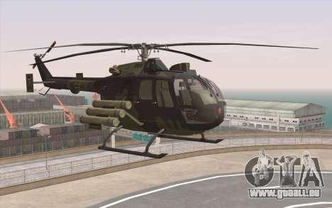 Bo-105 pour GTA San Andreas laissé vue