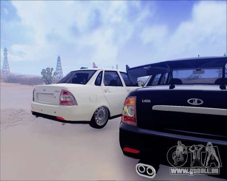 Lada 2170 Priora Tuneable pour GTA San Andreas vue arrière